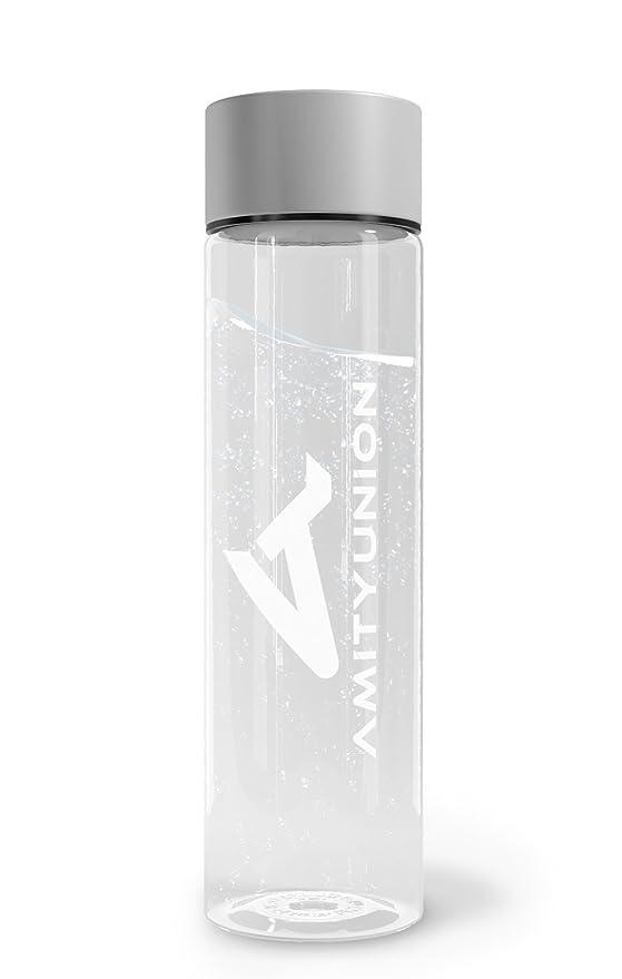 amityunion Gym Fruit Bottle transparente antigoteo - 1 litros sin BPA Tritan plástico botella Deportes de Agua - Frutas Detox Botella - sin plastificantes ...