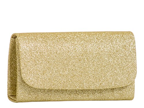 Girls KH731 Bag Clutch Light Cute Envelope Ladies Women's Glitter Pink amp; Purse Handbag Bag Evening Glittery 1qwH6qX5x