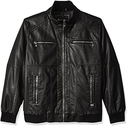 Calvin Klein Mens Leather Bomber