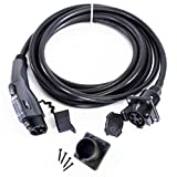 EV Everything 20 ft Extension Cord J1772 Cable 32 amp Electric Vehicle Charging + FREE Holster Dock