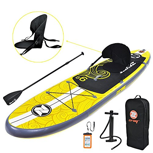 Zray Inflatable Paddle Board with Seat, 9'9' X1 SUP Package, Pump/Paddle/Backpack Included, 6' Thick