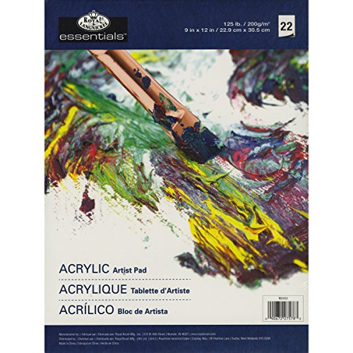 Royal Langnickel 22-Sheet Oil and Acrylic Essentials Artist Paper Pad, 9-Inch by 12-Inch ()