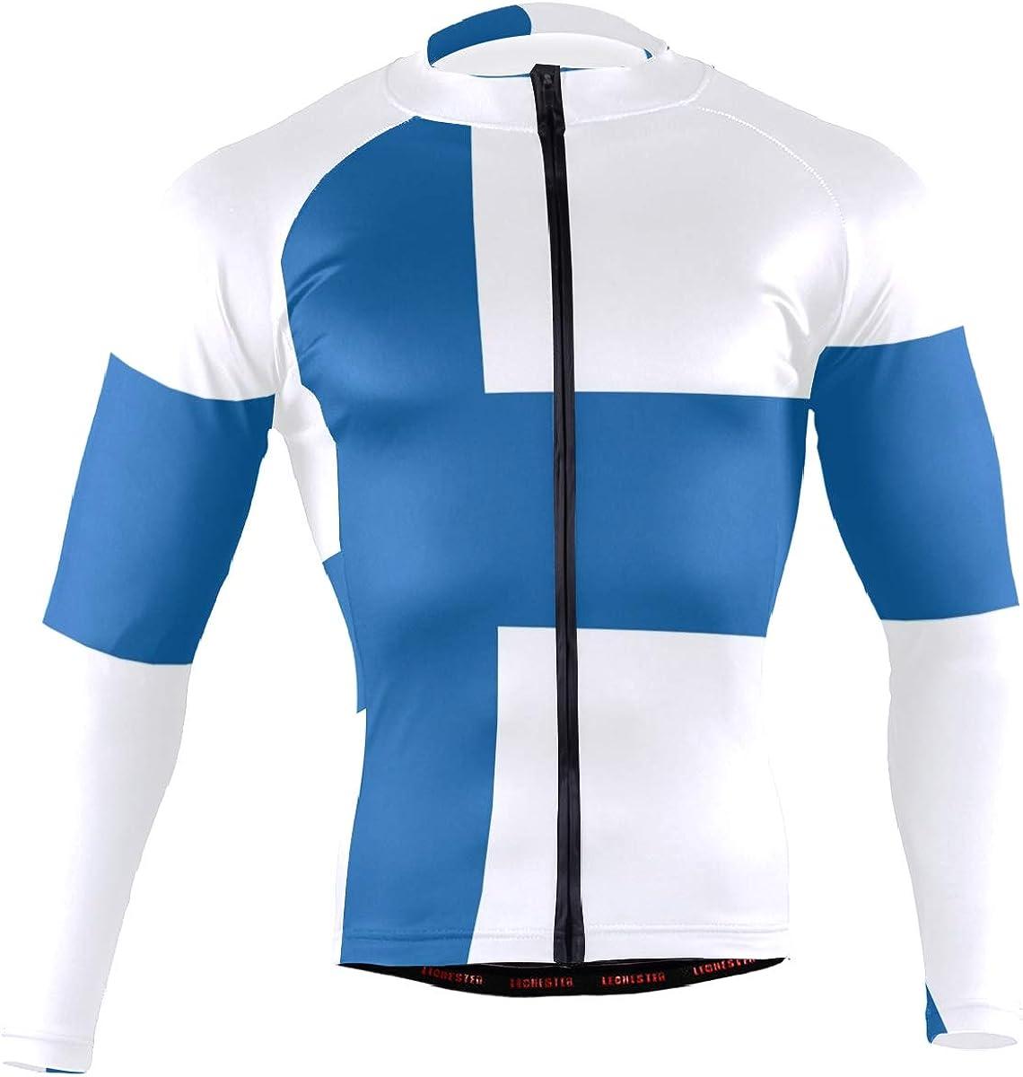 Mens Cycling Jersey Long Sleeve Bike//Bicycle Top Outdoor Sports Biking Shirts