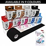 Mind Body Future Kinesiology Tape - Black (1 Pack) - Premium Grade Uncut 5cm x 5m Roll - Ideal for...