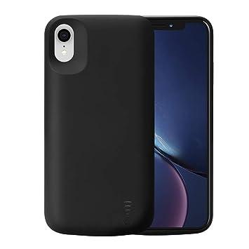 Fey-EU Funda Batería para iPhone XR, 6000mAh Funda Cargador Portatil Batería Externa Ultra Carcasa Batería Recargable Power Bank Case para Apple ...