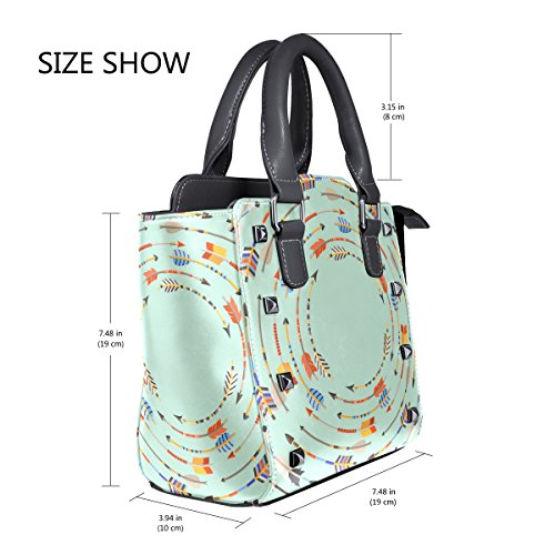 Native Bags Leather TIZORAX Ethnic Women's Style Shoulder Indian Handbags Tote Arrows 11t0vqw