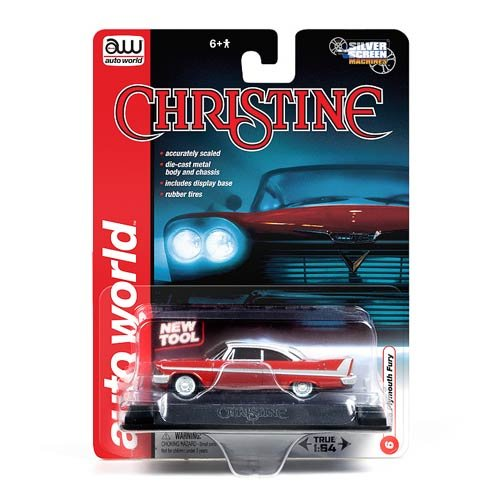 Stephen King's Christine 1/64 Scale 1958 Plymouth Fury Silver Screen Machines by Auto World