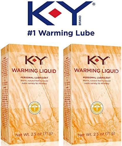 K-Y Warming Liquid Lubricant, 2.5 oz. (Pack of 2)