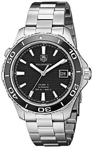TAG Heuer Men's WAK2110.BA0830 Aqua Racer 500 Swiss Automatic Silver Watch ()