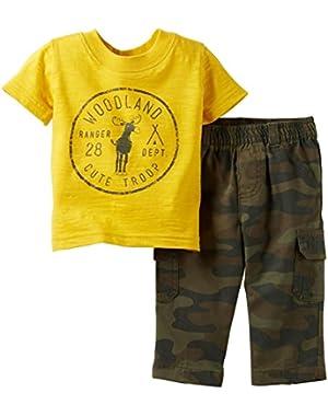 Carter's Baby Boys' 2 Piece Tee Set (Baby) - Yellow