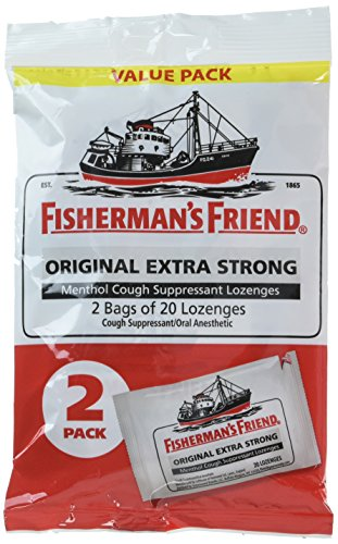 (Fisherman's Friend Original Extra Strong Cough Suppressant Lozenges, 40-Count Bags (2 Pack))