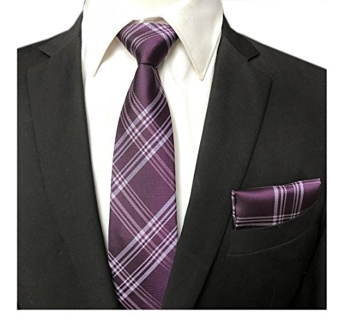 England Party Regency Purple Ties Elegant Banquet Prom Ball Neckties for (One Button Wool Tie)