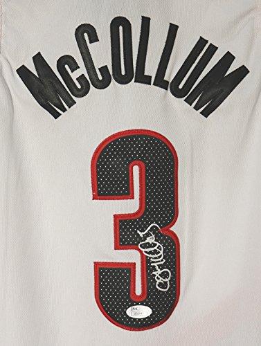 C.J. McCollum Portland Trail Blazers Signed Autographed White #3 Jersey JSA COA