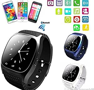 Bluetooth Smart Watch plus Earphone For IOS Android iPhone Samsung HTC Huawei (Gold)