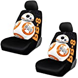 BB-8 Robot Star Wars Lucasfilm LTD Disney Auto Car Truck SUV Vehicle Low Back Front Bucket Seat Cover - PAIR