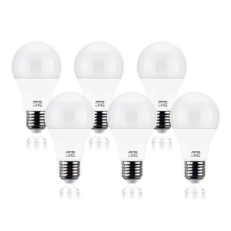 REPSN® Bombilla LED Esférica E27,10W (equivalente a 60W), Blanco Cálido