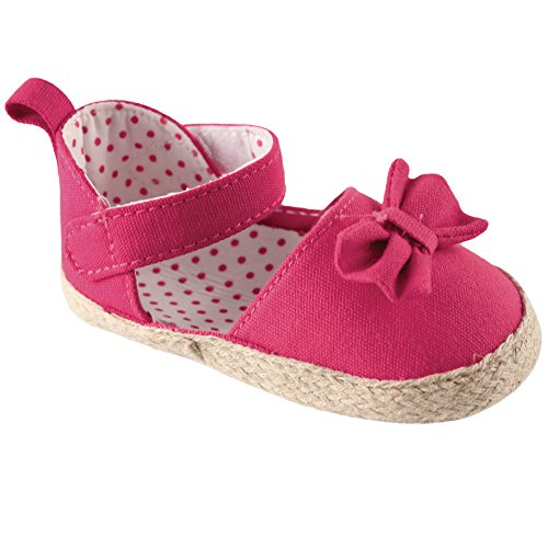 Pictures of Luvable Friends Girl's Bow Espadrille Sandal 4 M US Toddler 1