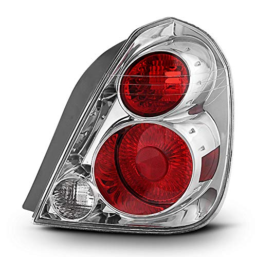 For 05-06 Altima Sedan Chrome Clear Rear Passenger Right Side Tail Light Brake Lamp Direct Replacement