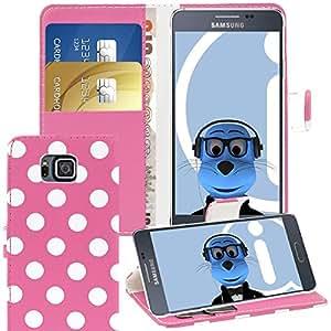 iTALKonline Samsung Galaxy Alpha SM-G850A PU Piel esecutivo Multi-Function tapa caso de la cobertura de vibrador con organizador de crédito/para tarjetas de visita monedero Horizontal integrado visualización Stand