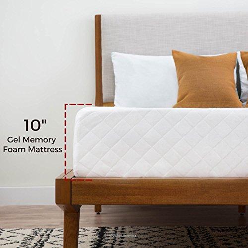 Linenspa 10 Inch Gel Memory Foam Mattress - Dual Layered - CertiPUR-US Certified - Medium Feel - 10...