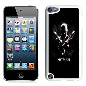NEW Unique Custom Designed iPod Touch 5 Phone Case With Hitman 47 Double Pistols_White Phone Case