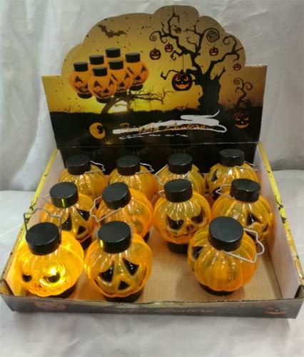 Dollaritem New 377110 Hh Mini Light Pumpkin Hanging 3.1X2.6 (36-Pack) Halloween Wholesale Bulk Seasonal Halloween Fish Bowl]()