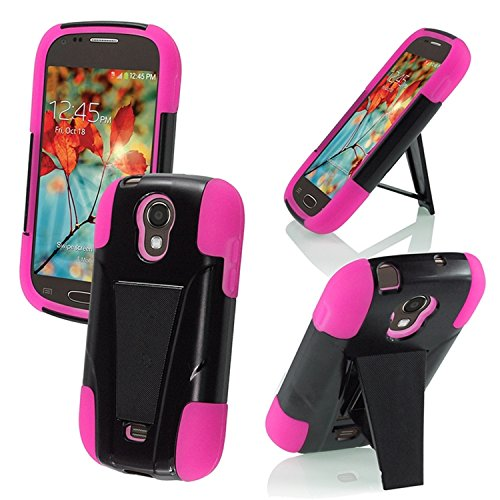 For Samsung©Galaxy Light T399 Cover Case (T-Stand Hybrid Black / Hot Pink) (Samsung Galaxy Light Phone Case compare prices)