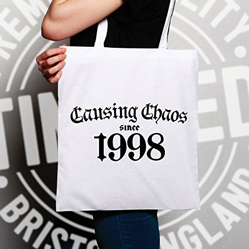 1998 Chaos Shopping Bag Natural Tote Since Birthday Causing 20th qa60w0