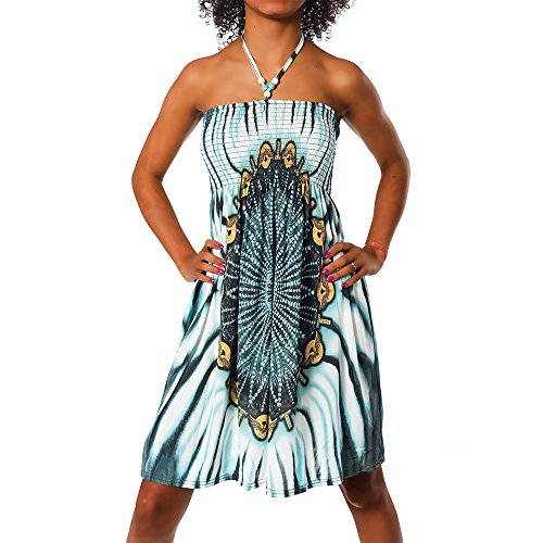Paisley 021 fleur robe Bandeau Maxi Imprimer de Femmes robe plage Aztec color Turquoise robe design licou F de robe soire qZ44wOxH