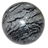 Limestone Ball 50 Gray Zebra Stripe Crystal Animal Earth Energy Elemental Crystal Stone Sphere 2.6''