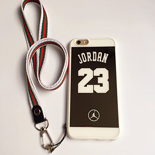 cheap for discount 847ff 861f8 iPhone 6 and 6S Case,Reflective Mirror Case Jordan 23 Jumpman Cover with  Soft Neck Lanyard.Shockproof Resistant Case for iPhone 6 and 6S Case 4.7 ...