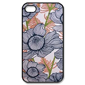 Pink Floral Custom Cover Case for Iphone 4,4S,diy phone case ygtg570999