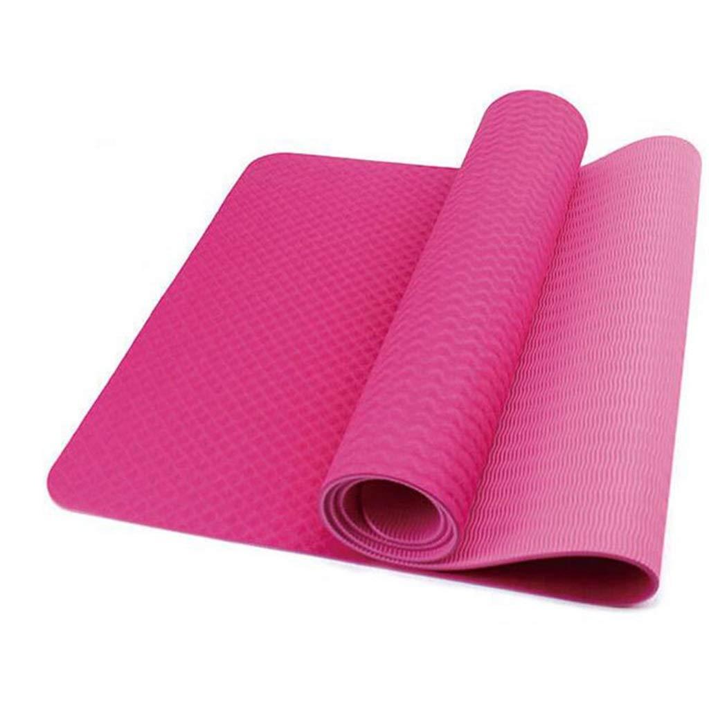 Amazon.com: L-HOME TPE Yoga mat/Thick / 183 61 6mm Yoga mat ...