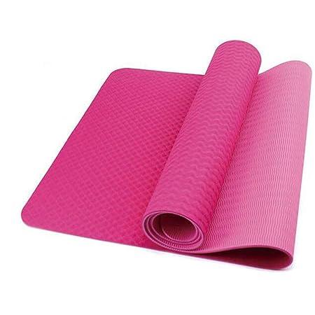 WZL Esterilla de Yoga TPE Estera de Yoga Larga Espesamiento ...