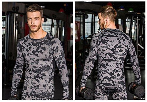 Camuflaje Xl Camiseta Escalar Gimnasio Transpirable Compresión Secado De Deportivo Bwiv Talla Baloncésto Hasta Negro Correr Senderismo Rápido M aEvdwgxq