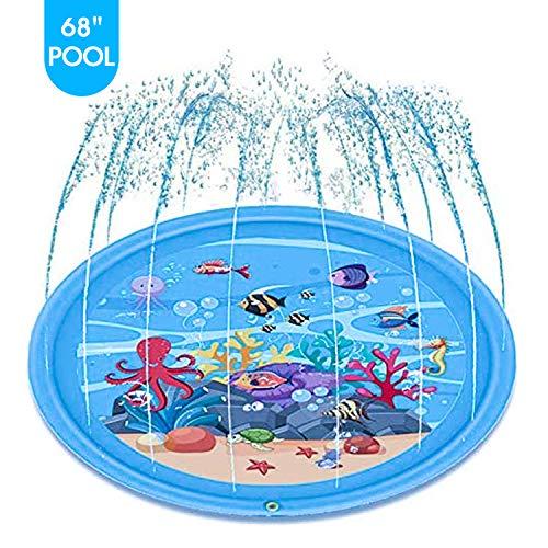 🥇 mafiti Sprinkler for Kids Splash Pad Wading Pool for Learning Gaming Children's Sprinkler Pool