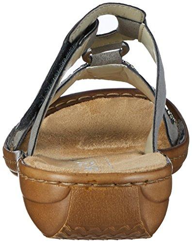 Rieker 608k3, Mules para Mujer Gris (Staub / 42)