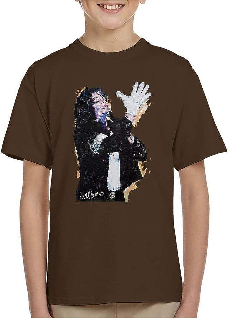 VINTRO Maglietta per Bambini Michael Jackson White Glove Ritratto Originale di Sidney Maurer