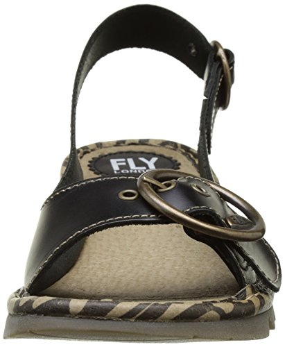 FLYA4|#Fly London Tram723fly, Heels Sandals para Mujer Negro (Black 000)