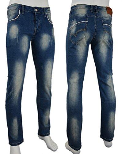 Mo de Ho Slim - Stretch - Pantalones Vaqueros para Hombre ...