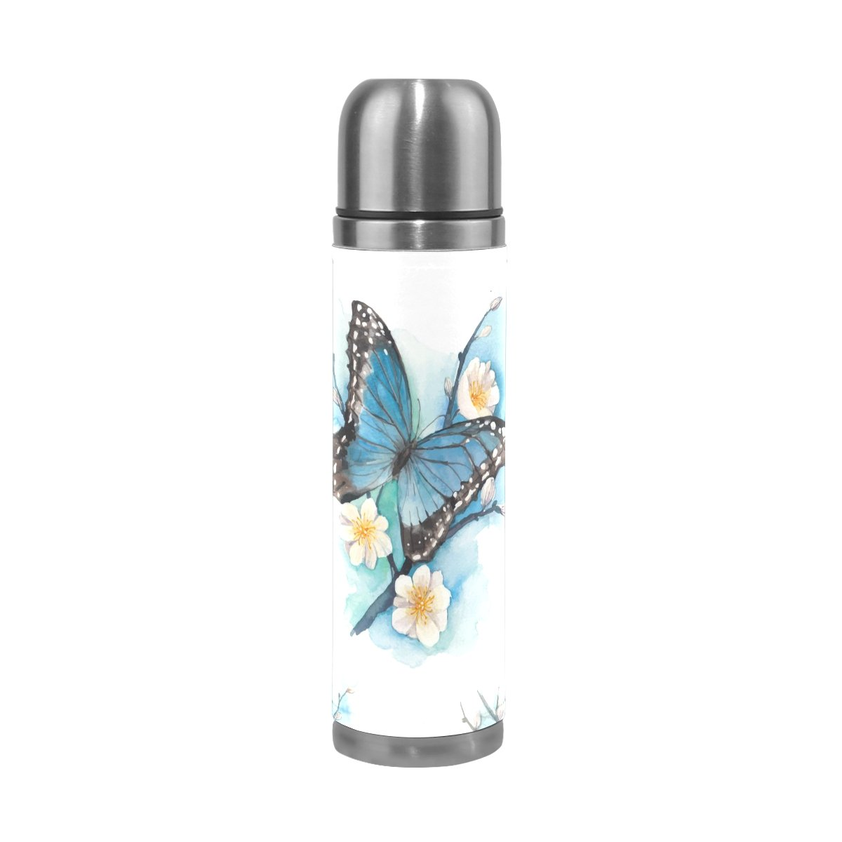 JSTeLバタフライステンレススチールウォーターボトル真空断熱真空ボトルを漏れ防止ダブルホットコーヒーまたはコールドティー+ Drink Cup Top 500 ml B075FLSM7K