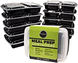 Durahome - Meal Prep Containers, 10-Pack, 3 Compartment, BPA Free Food Storage Container with Lids 32oz. Portion Control