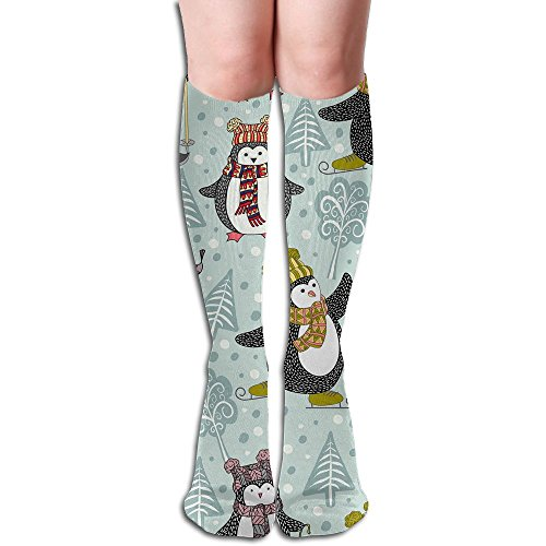 Cool Daily Pellet (Cartoon Penguin Women's Athletic Socks Classic Unisex Anti-odor Running Long Sock Compression Socks High Stockings)