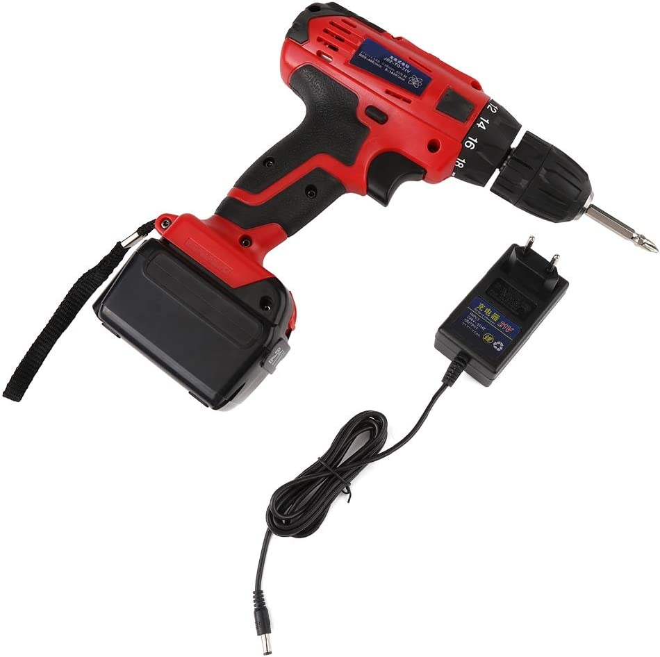 Destornillador el/éctrico 21v taladro bater/ía de litio recargable Taladro de litio industrial destornillador el/éctrico recargable de alta potencia