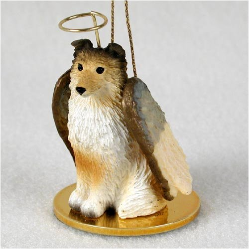 Sable Christmas Ornaments (1 X Sheltie Angel Dog Ornament - Sable)