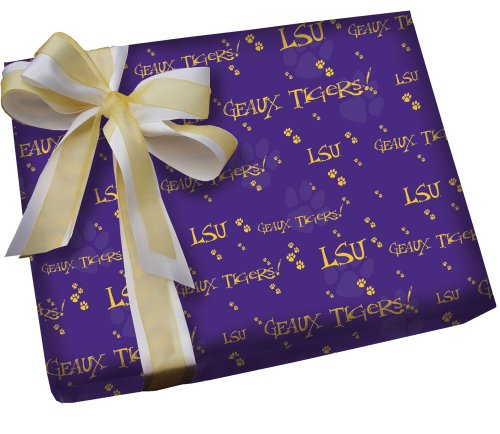 LSU Geaux Purple Gift Wrap Roll - Buy 1 / GET 1 FREE