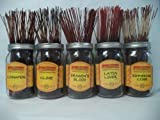 Wildberry Incense Sticks Spicy Scents Set #3: 20 Sticks Each of 5 Scents, Total 100 Sticks!