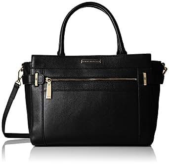 Tommy Hilfiger Savanna Convertible Leather Shopper, Black