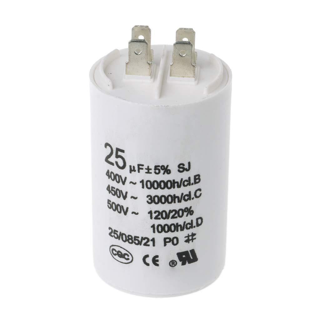 Remo-Y CBB60 AC450V 25UF Condensateur de condenseur de Moteur 50 60Hz Condensateur de d/émarrage du compresseur Composants /électroniques
