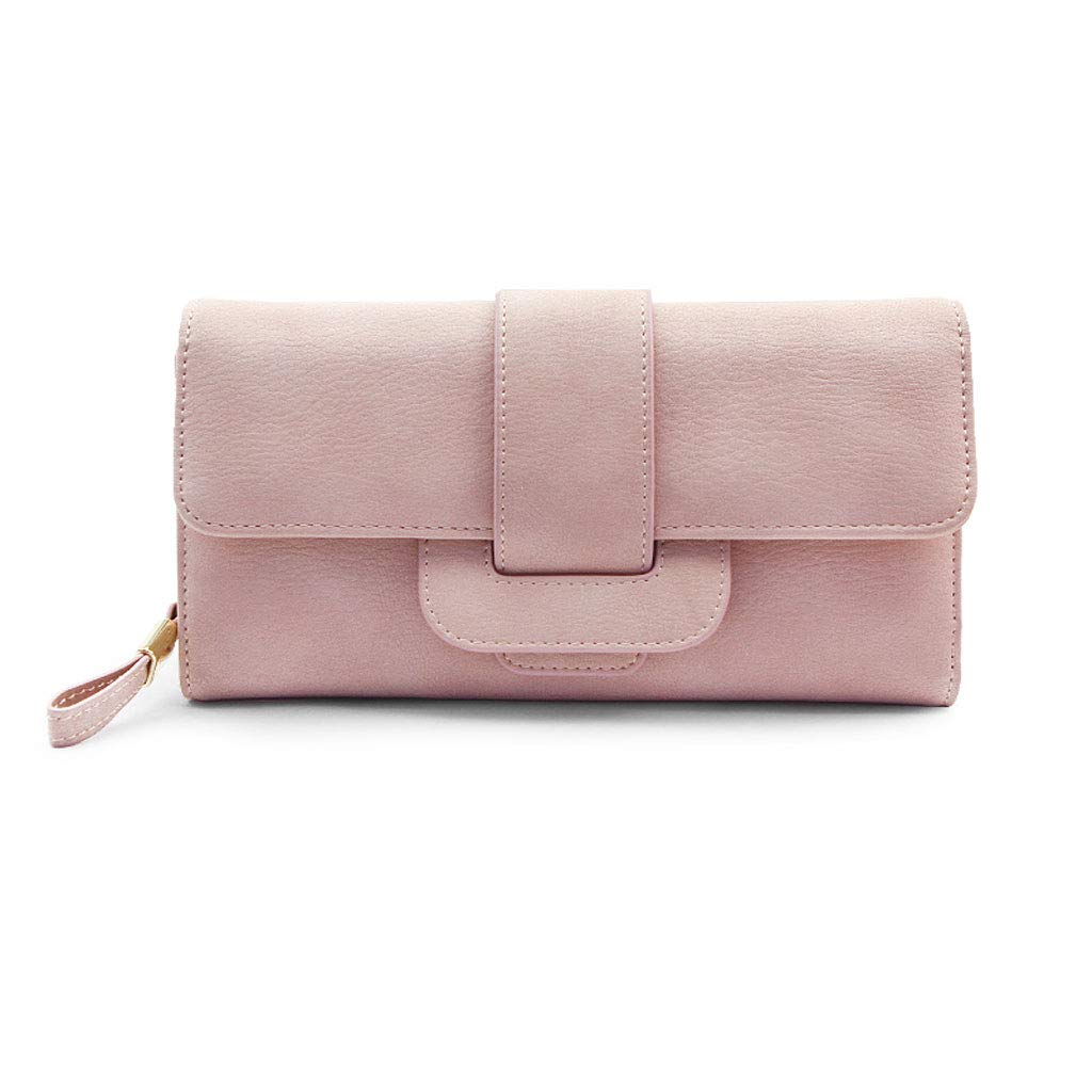 Women's Hand Holding Wallet 3 fold Long Zipper Wallet Phone Bag Credit Card Set Wallet Predective Cover   (color   A, Size   8  5  1 inch)